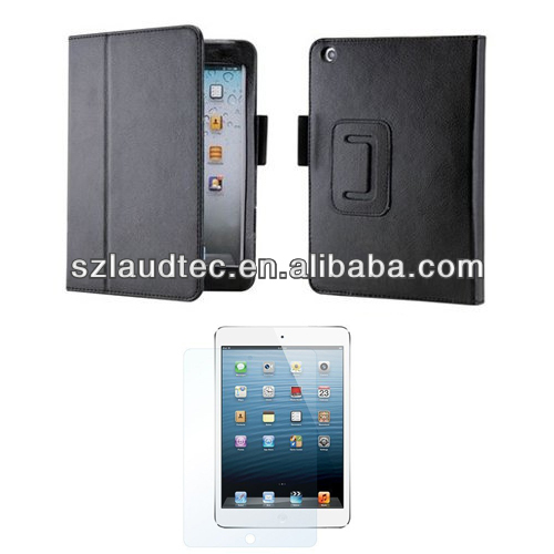 for iPad Mini 2 Stand Leather Folio Case