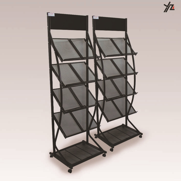 Good Quality Metal Wire Used Newspaper Display Rack/newspaper Wire Display Rack