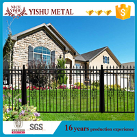 Ornamental decorative used iron bar fence with picket for villas
