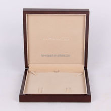 Harwoo Best Sale Wooden Necklace Box Jewelry Packaging Box Jewelry Set Velvet Insert