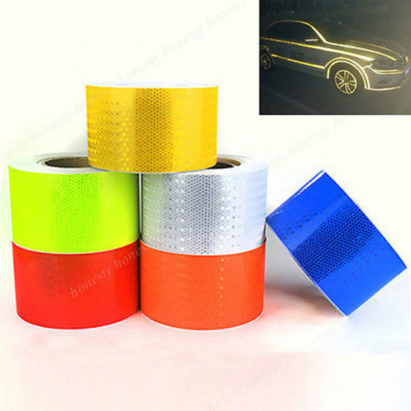 Printing Reflective Sticker For Motorcycle 3M Reflective Conspicuity Tape with Yellow/Black/White/Red/Blue Colors