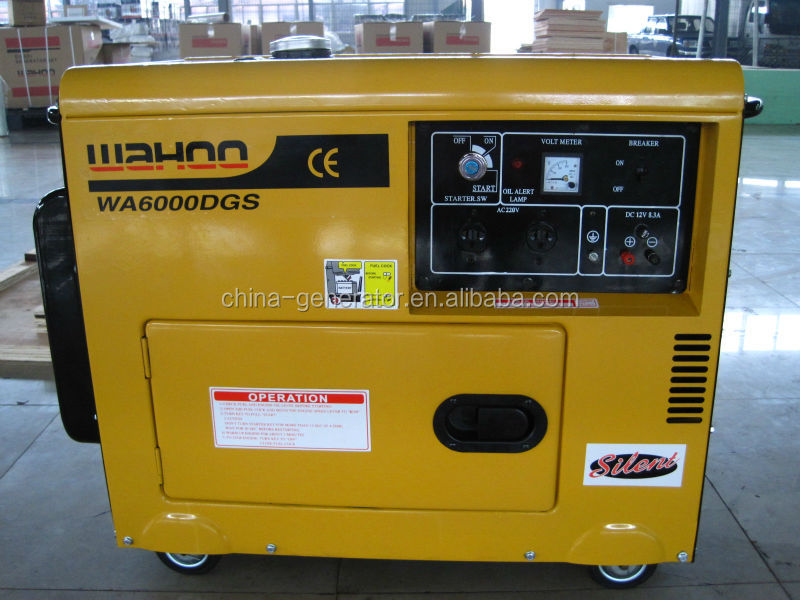 WH5500DGS 5kw silent portable diesel generating