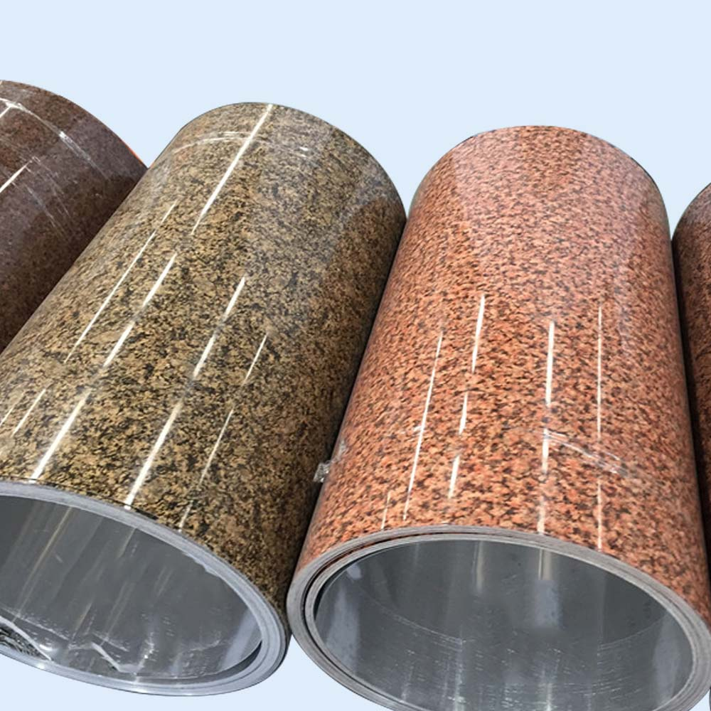 stone grain laminated metal