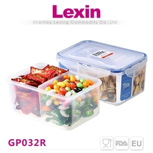 airtight guangdong plastic food storage container with divider