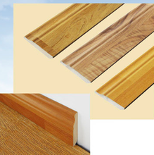 Cheaper price Fashion Design Laminated Flooring MDF Wood Skirting Board