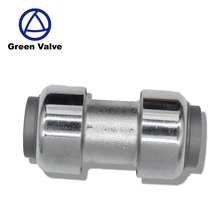 Green-GutenTop GT4221 15mm*15mm Chrome Plated Straight Equal Brass Push Fit Fitting