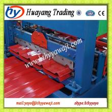 Brand new HY840 manufacture glazed tile roll forming machine trade assurance hydraulic