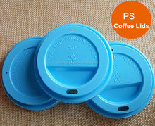 80/85/90mm Caliber Colored Disposable PS Lids/Plastic Paper Coffee Cup Lids for 8oz 12oz 16oz Paper Cups