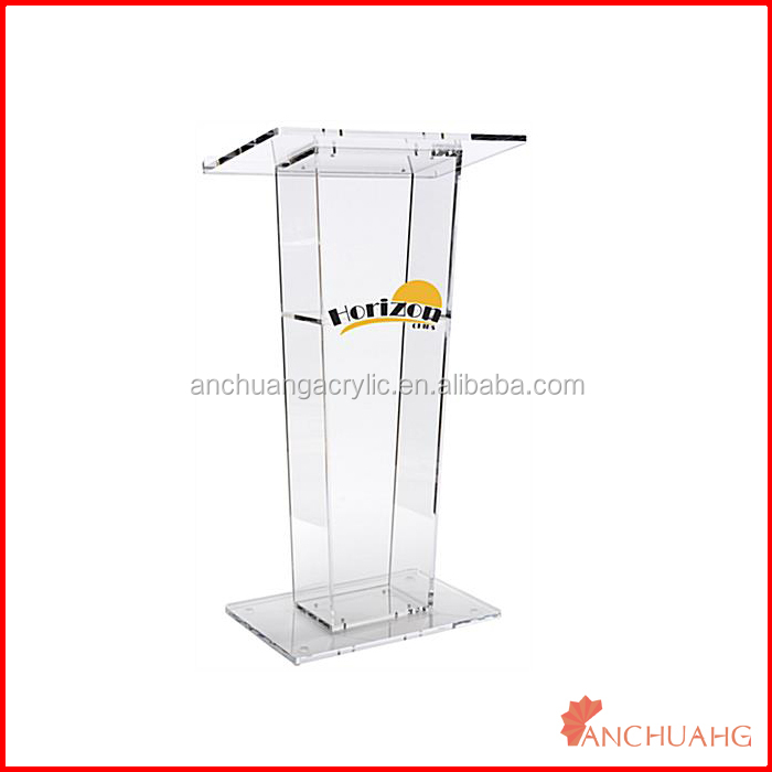 clear acrylic conference lectern podium