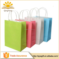 Customized luxury colorful recycled shopping kraft paper bag