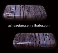 For blackberry 8520 8252 wood phone cases high quality plastic cover water printing business in china wholesaler