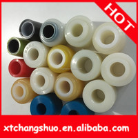 bushes with collar Customized black auto silicone rubber bushing for shock absorber