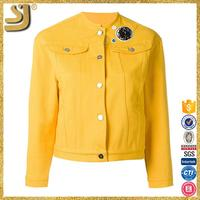 Hot selling womens safari jacket, stand collar jackets, jacket parkas