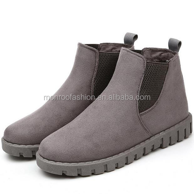Monroo The new winter women 's long - staple women' s casual women 's casual cashmere shoes low - top shoes