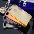 2017 new design PC+metal frame case for iphone 7 plus case back cover