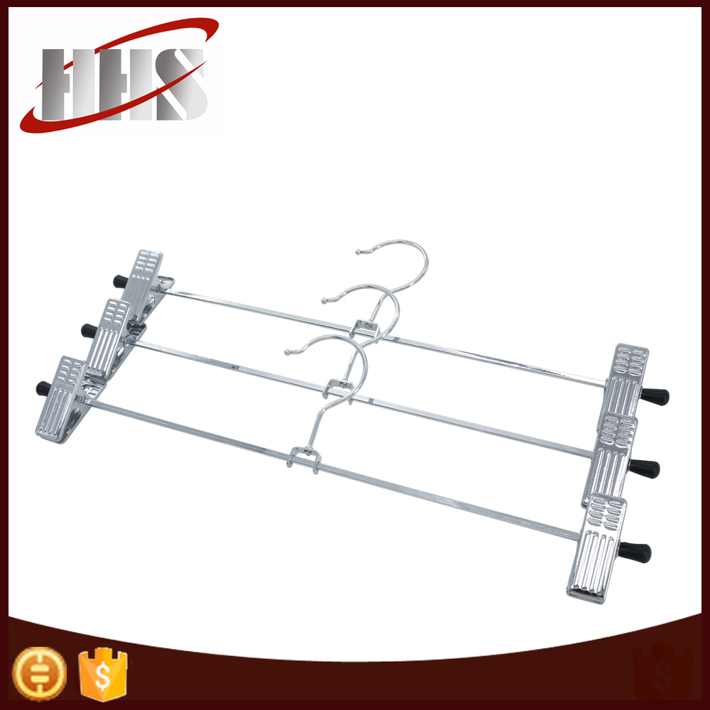 For Pants/Skirt/Slack Hangers, Metal PVC Coated Clip Hanger