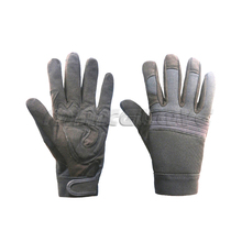 Black microfiber waterproof mechanical gloves