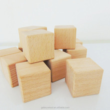 "2 inch wooden cube, 2"" wooden block, unfinished beech wood cube"