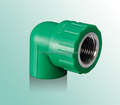PPR female elbow for water supply with latest price in write gray and green color