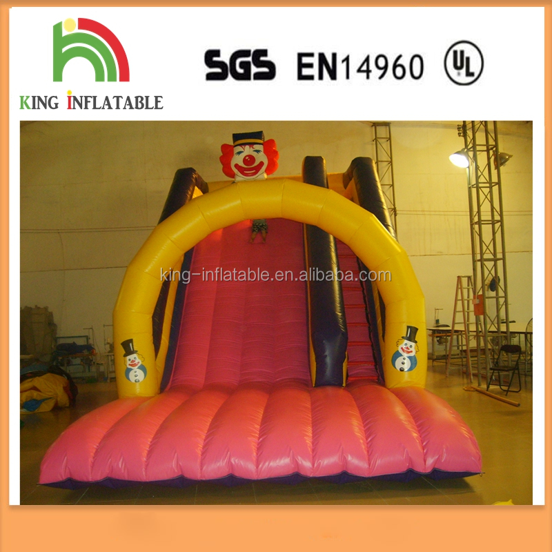 0.55 mm PVC Kids Playing Park Inflatable Slip And Slide Lovely Pink Slide