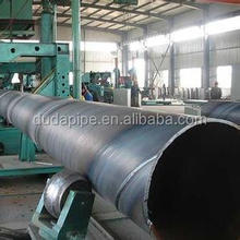 china supplier q235 q345 SSAW carbon steel spiral welded pipe gas and oiled pipe
