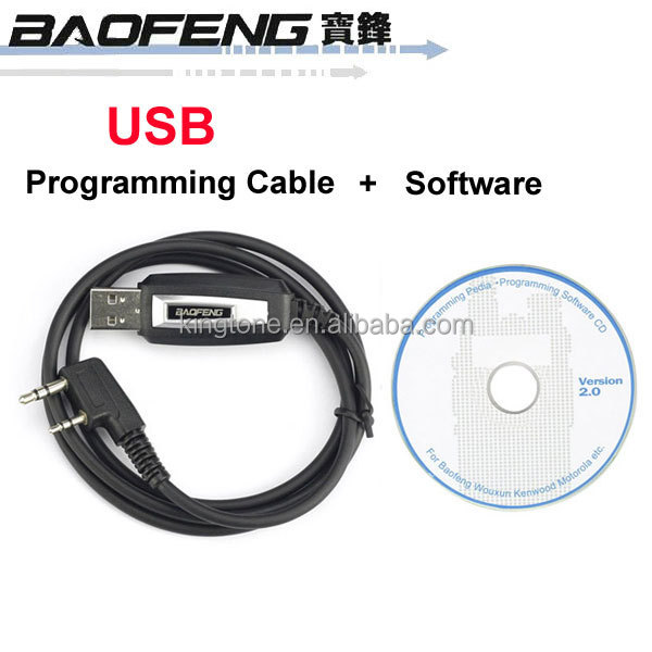 Original Baofeng Radios UV-5R/666S/777S/888S Two-way Radio USB Programming Cable