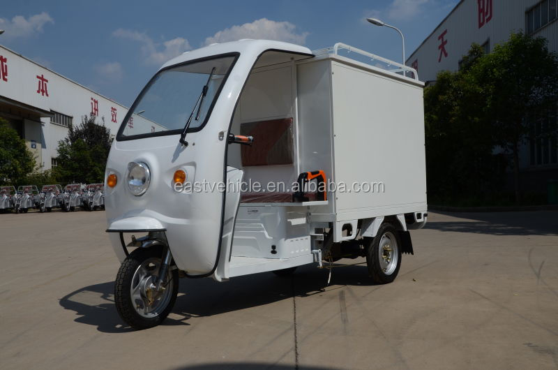 48V/60V half closed cargo use electric tricycle with Carbin /cargo truck/electric tuk tuk