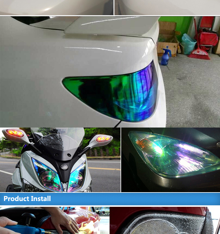 CARLIKE Motorcycles Color Change Chameleon Headlight Tint Film Car Vinyl Rolls