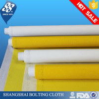 white high tension 100 micron polyester monofilament silk screen printing mesh fabric