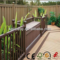 Outdoor Wood Grain WPC Garden Fence Panel Wood Plastic Composite Fence