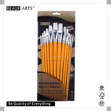 Professional Synthetic Hair Art Paint Brush for Acrylic Painting, with Birch Wood Handle and Aluminum Ferrule