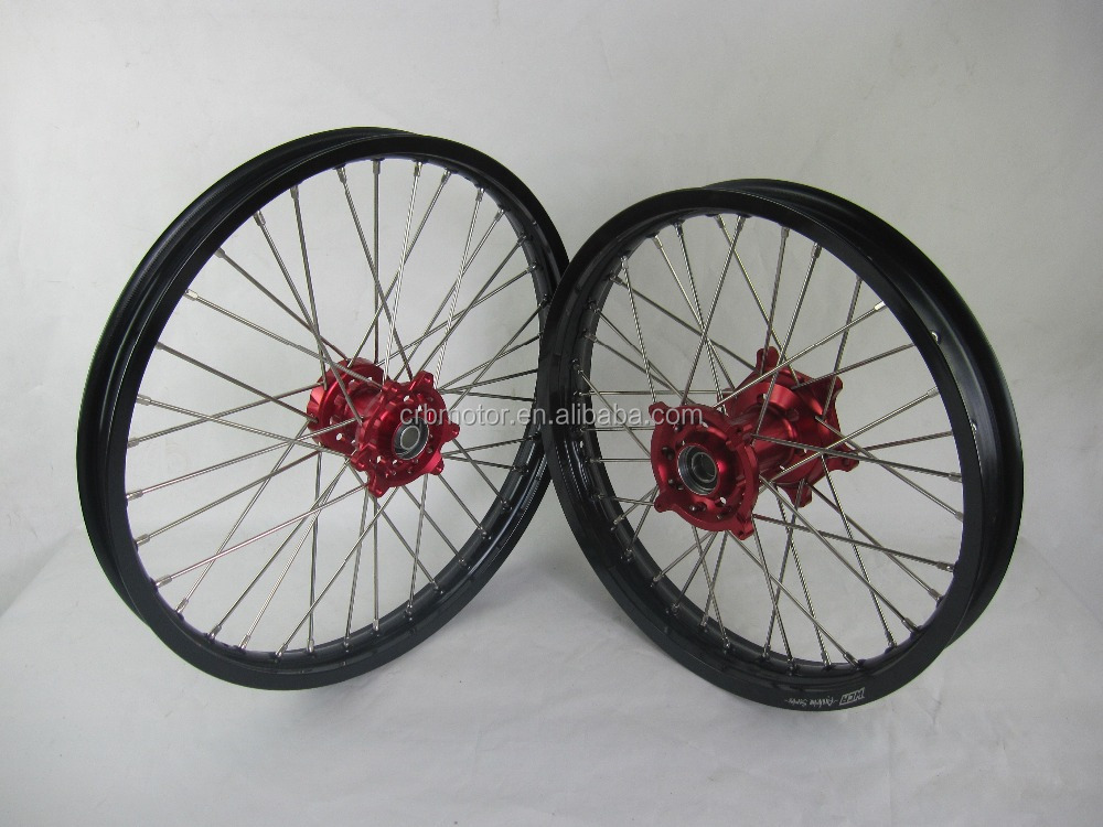 MOTOCROSS WHEEL SETS FOR CR 125/250 CRF 250R 450R 2000-2013 1.6*21/2.15*19/18