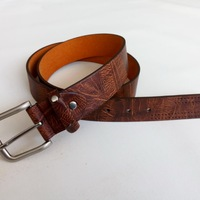 Man Pu Belt Faux Leather Belt