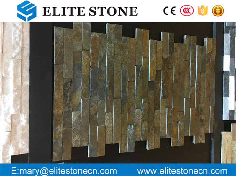 Natural rusty slate veneer stacked ledge culture stone with high quality for wall cladding