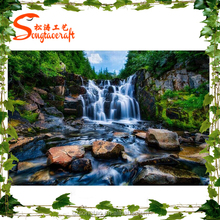 Extremely romantic artistic simulation rockery waterfall Landscape Art decorative artificial rockry waterfall
