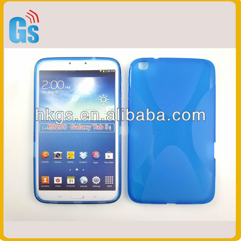 new arrival For samsung galaxy Tab 3 P8200 Tpu gel X Line protection shell