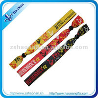 2015 cheap gift wholesale alibaba china Single Cheap Custom Festival Woven Fabric Wristband for chinese new year
