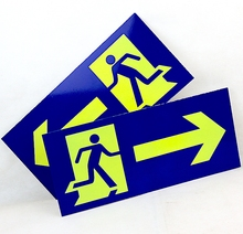 Blue House Room Office Factory Luminous Emergency Exit Sign Plate Door