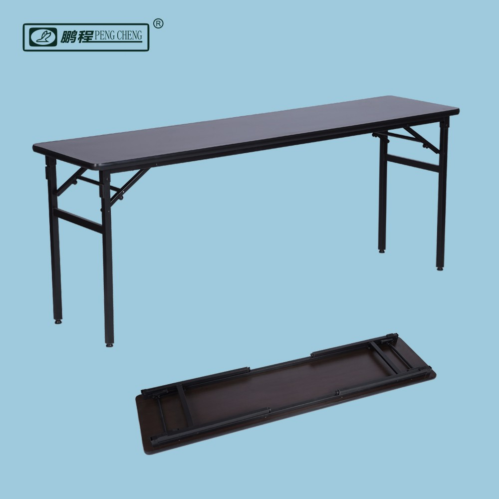 China Manufacturer Wooden Steel Base Folding Conference Table