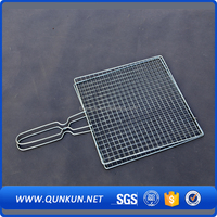 Korea Handle Bbq grill netting, Bbq Mesh Grill/ Oven Cooking Mesh
