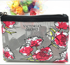 Osini proffesinal custom Rose garden mesh pencil pouch cosmetic bag mesh rose printed pen bag make up pouch