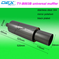 factory price various types car tuning stainless steel 304 universal exhaust system muffler tip