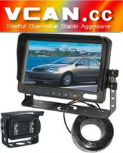 7 inch rear view mirror car monitor with Waterproof IR Color CCD Camera VCAN0338
