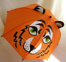 Tiger safety cartoon umbrella children umbrella