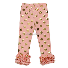 New baby ruffle leggings Hot sale baby thermal leggings Fashion wholesale pants