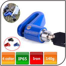 The Factory Wholesale Colorful Bike Rotor Lock Scooter Bicycle Motorcycle anti-theft Brake Bike Disk Lock