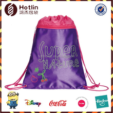 Purple Colored Baby Backpack Drawstring Shopping Bags
