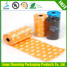 custom printed dog poop bag / christmas hdpe garbage bag