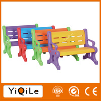 Colorful plastic park bench for kids hand chair