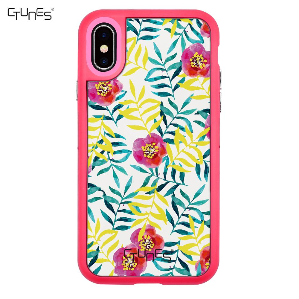 C&T New Arrival Mobile Phone Accessories Floral Pattern Design Phone Cover Case for iPhone X